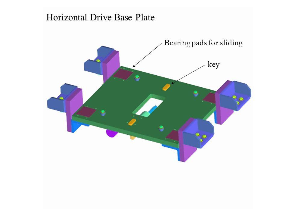 Horizontal Drive Base Plate Bearing pads for sliding key