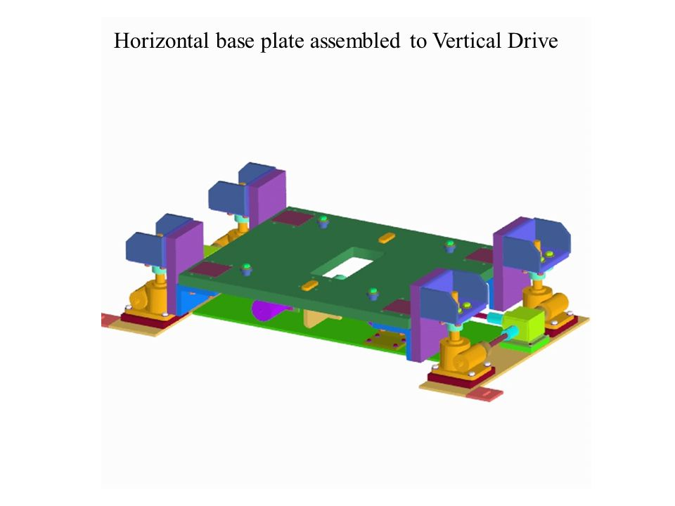 Horizontal base plate assembled to Vertical Drive