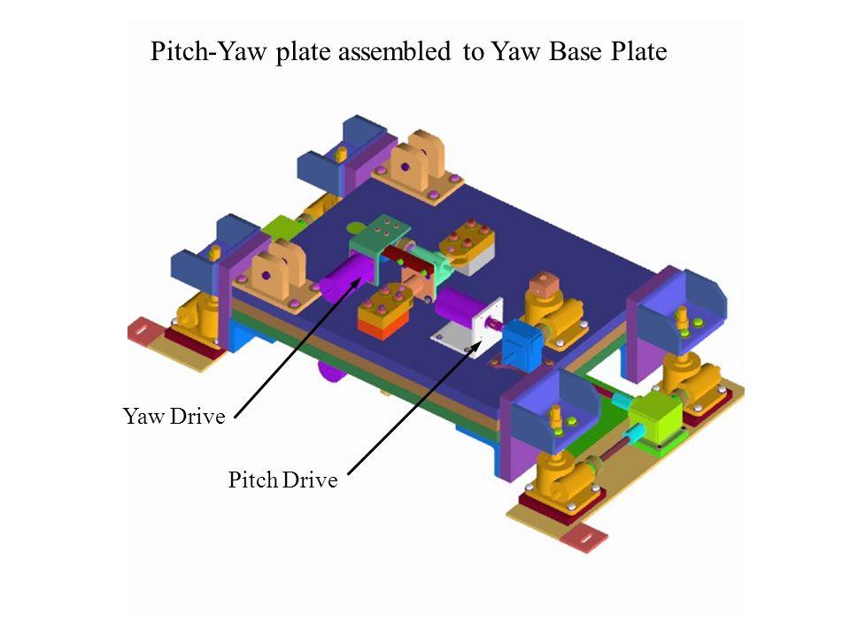 Pitch-Yaw plate assembled to Yaw Base Plate Yaw Drive Pitch Drive
