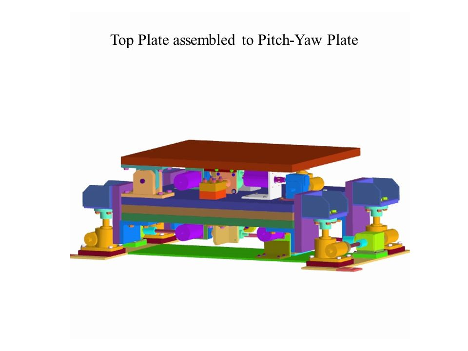 Top Plate assembled to Pitch-Yaw Plate