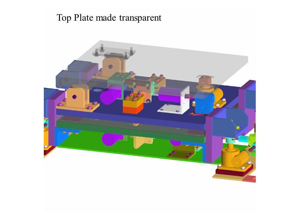 Top Plate made transparent