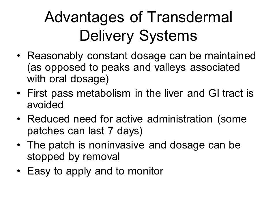 Oral versus Transdermal EE = Ethinyl Estradiol