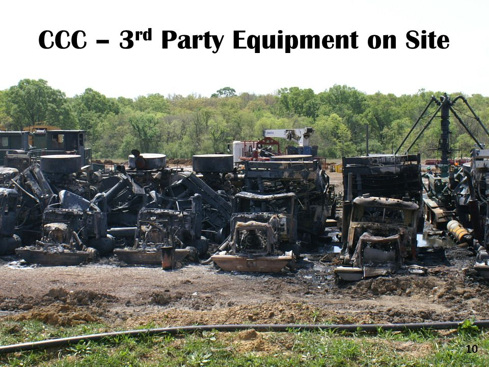 CCC – 3 rd Party Equipment on Site 10