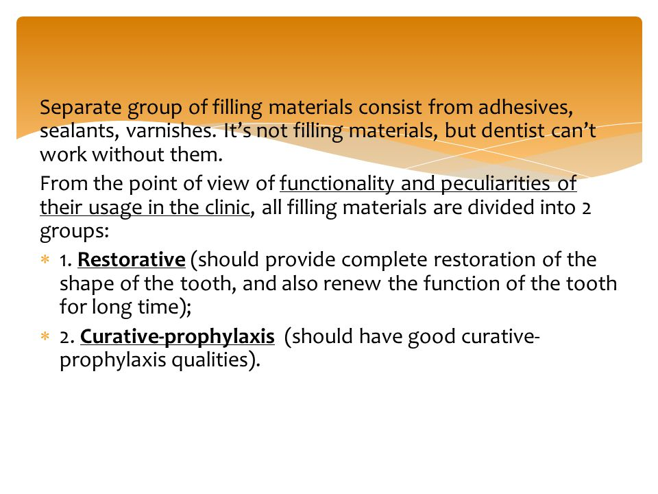 Temporary restorative materials and their placement