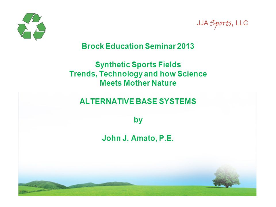 JJA Sports, LLC The need for Alternative Base Systems starts here.