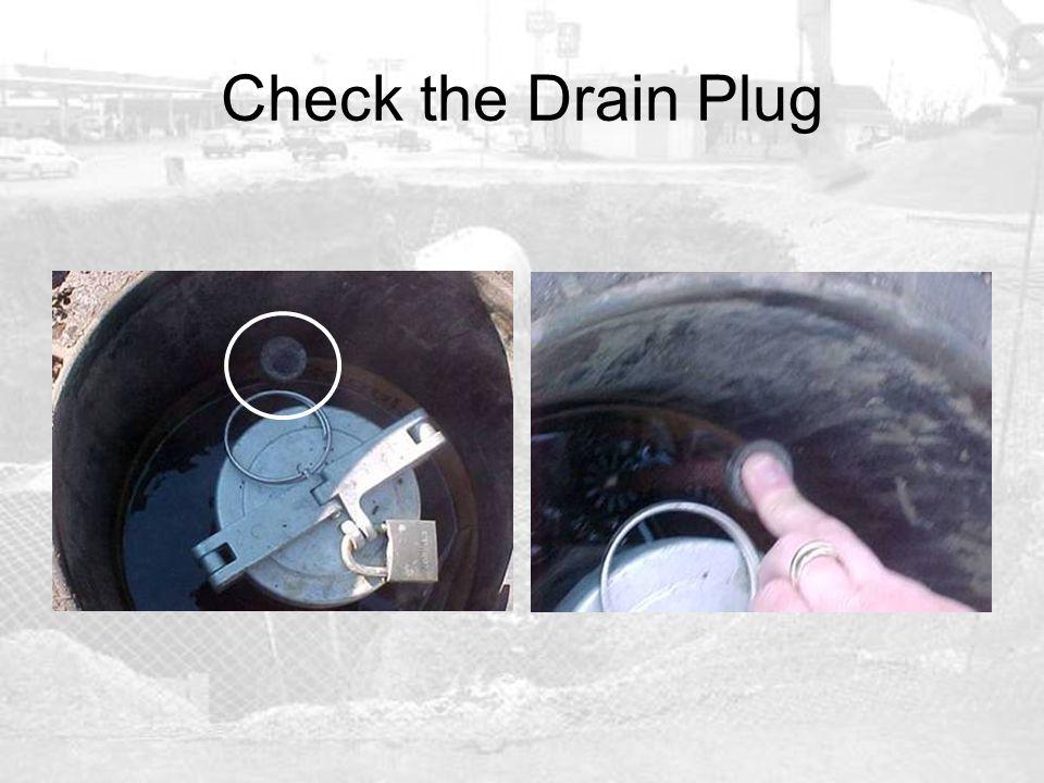 Check the Drain Plug