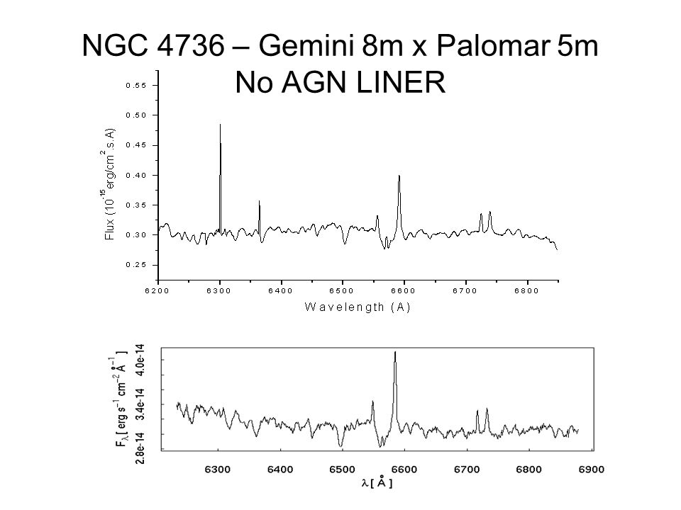 NGC 4736 – Gemini 8m x Palomar 5m No AGN LINER