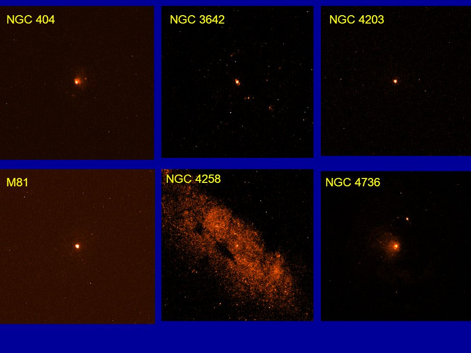 NGC 404NGC 3642NGC 4203 M81 NGC 4258 NGC 4736