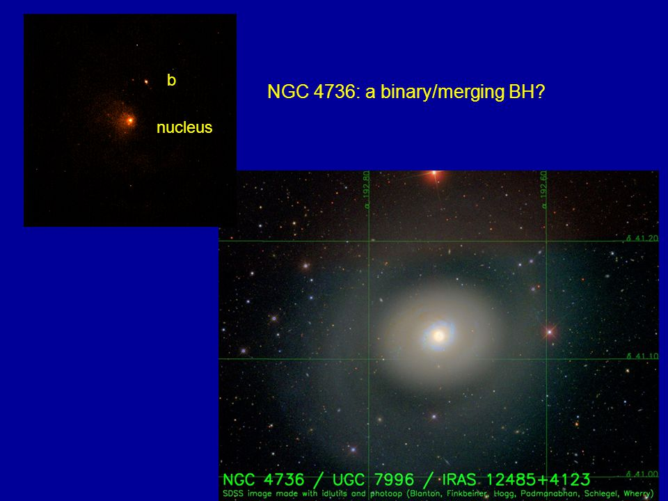 NGC 4736: a binary/merging BH b nucleus