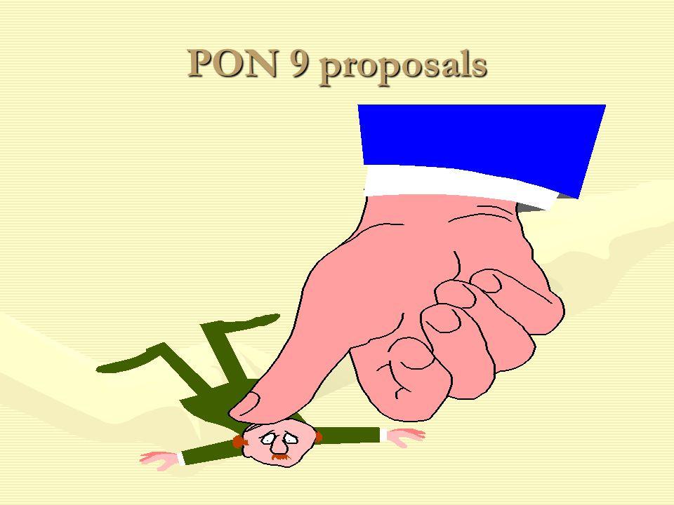 PON 9 proposals