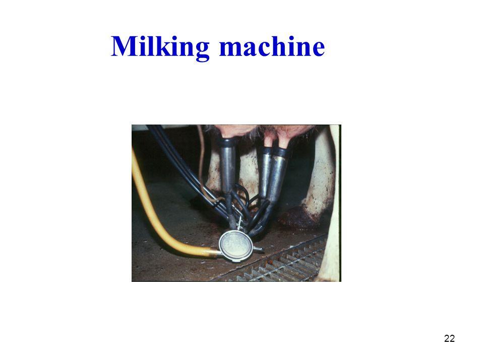 22 Milking machine