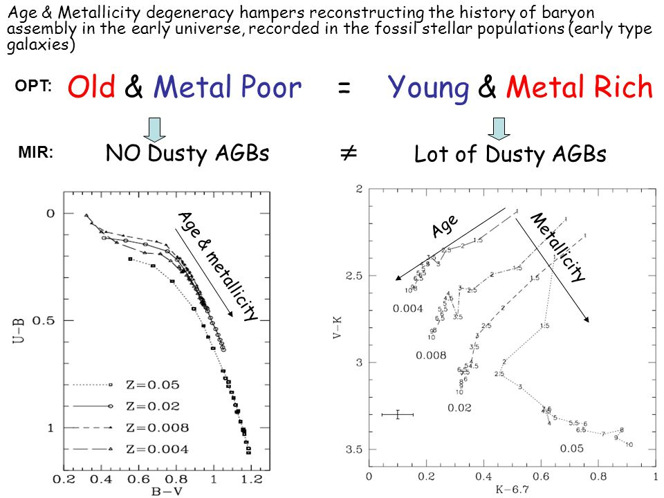 Age & Metallicity degeneracy hampers reconstructing the history of baryon assembly in the early universe, recorded in the fossil stellar populations (