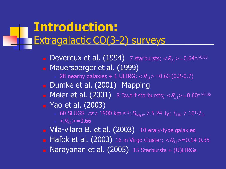 What's the general properties of warm molecular gas in various galaxies.