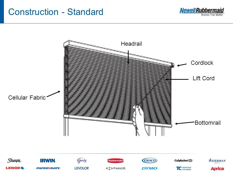 Construction - Cordless Cellular Fabric Bottomrail Headrail Cordless Motor