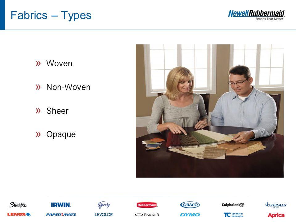 Fabrics – Types » Woven » Non-Woven » Sheer » Opaque