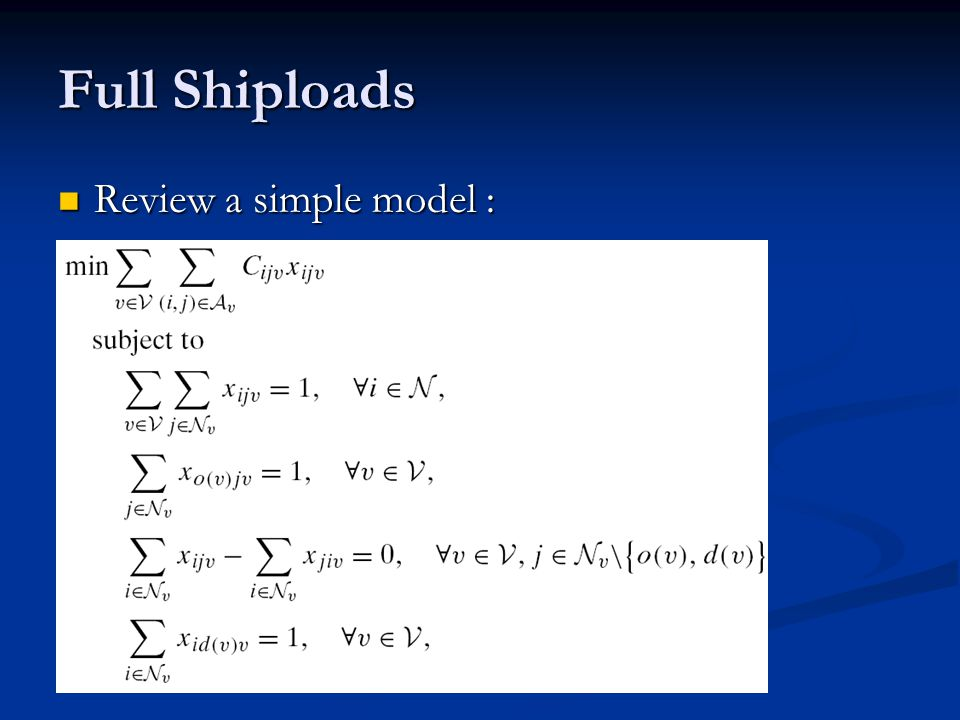 Review a simple model : Review a simple model :