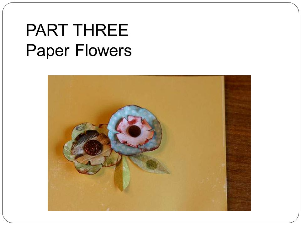 PART THREE Paper Flowers