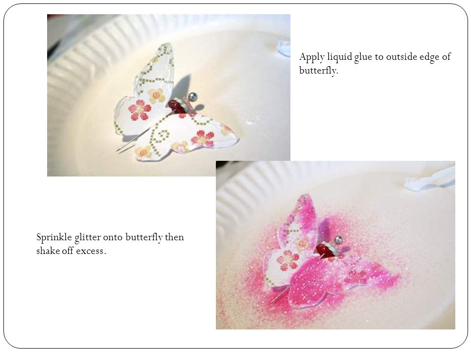 Find a white glitter flower from MM and ink yellow if you want (or any color).