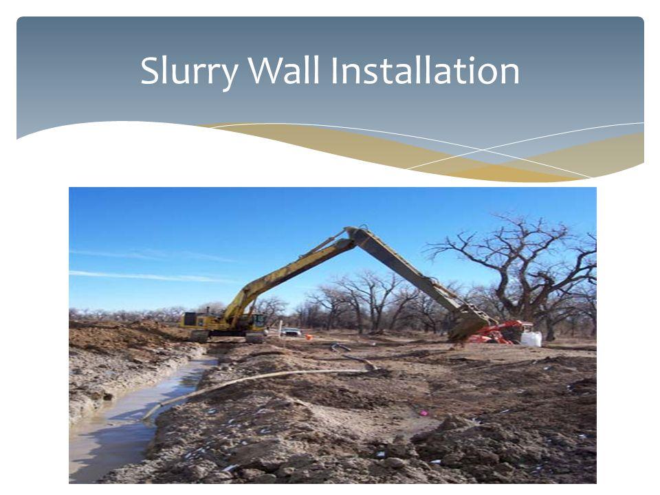 Slurry Wall Installation