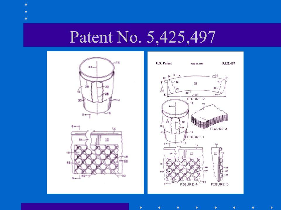Patent No. 5,425,497