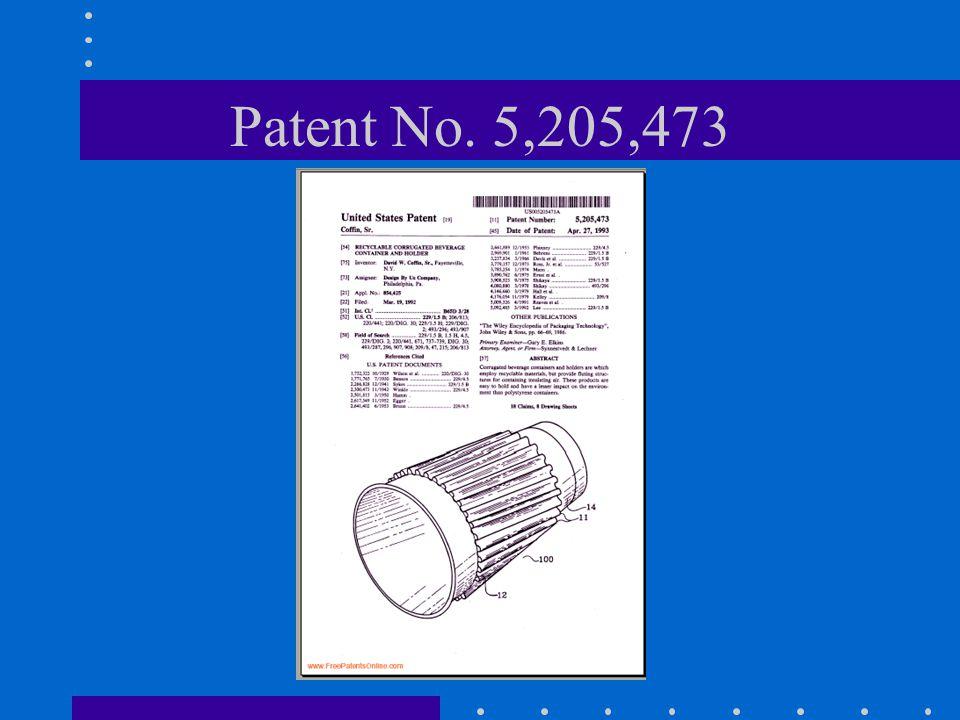 Patent No. 5,205,473