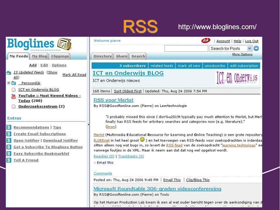 RSS http://www.bloglines.com/