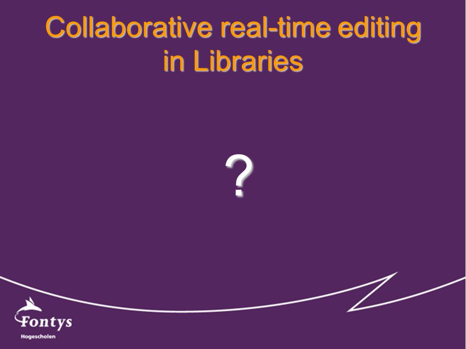 Collaborative real-time editing in Libraries