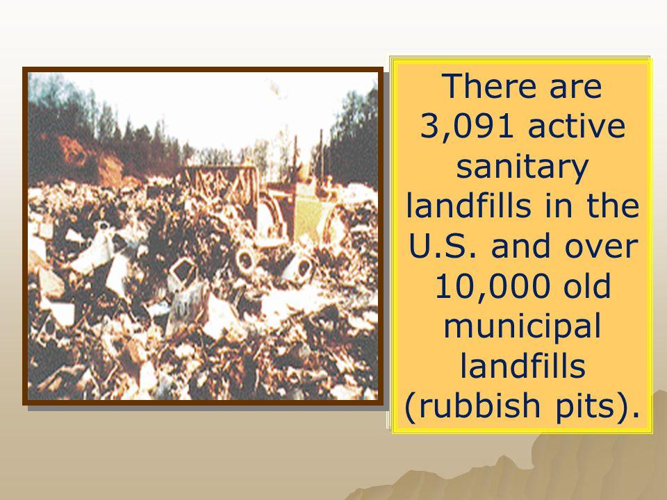   Landfills create air pollution (methane, mercury etc)   Landfills need space.