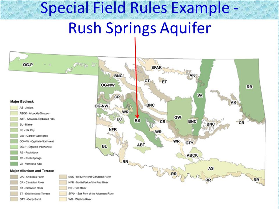 Special Field Rules Example - Rush Springs Aquifer