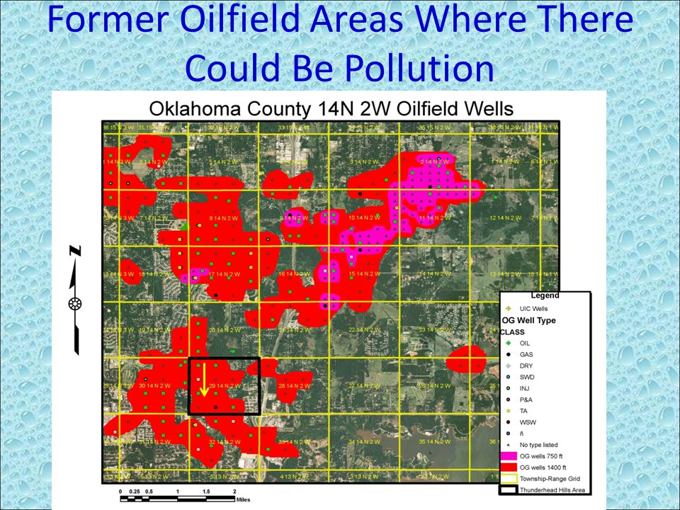 Former Oilfield Areas Where There Could Be Pollution