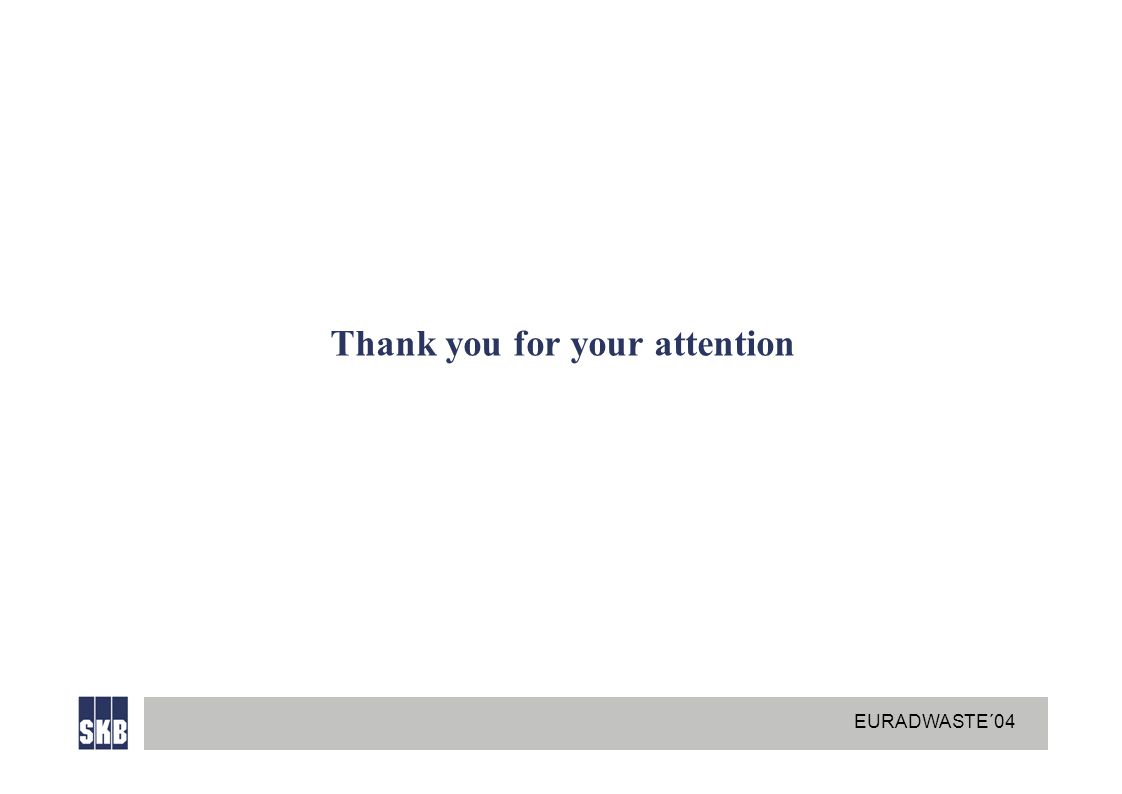 EURADWASTE´04 Thank you for your attention