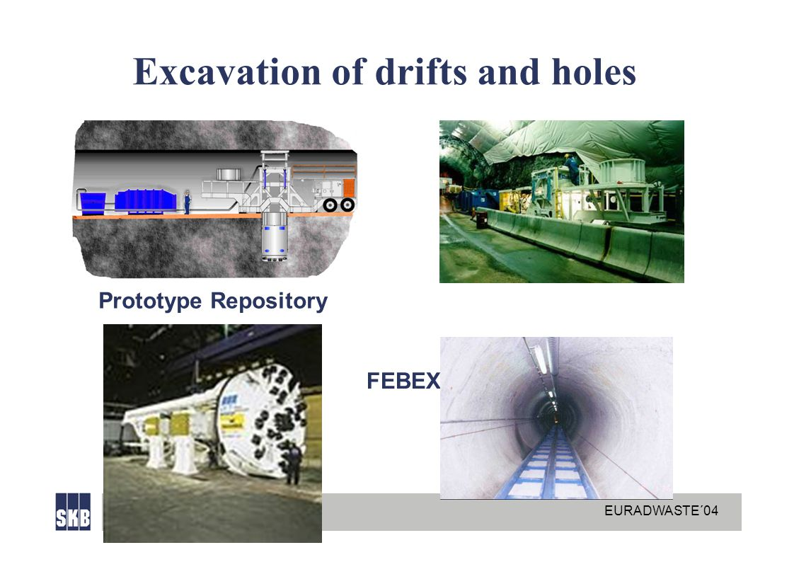 EURADWASTE´04 Excavation of drifts and holes Prototype Repository FEBEX
