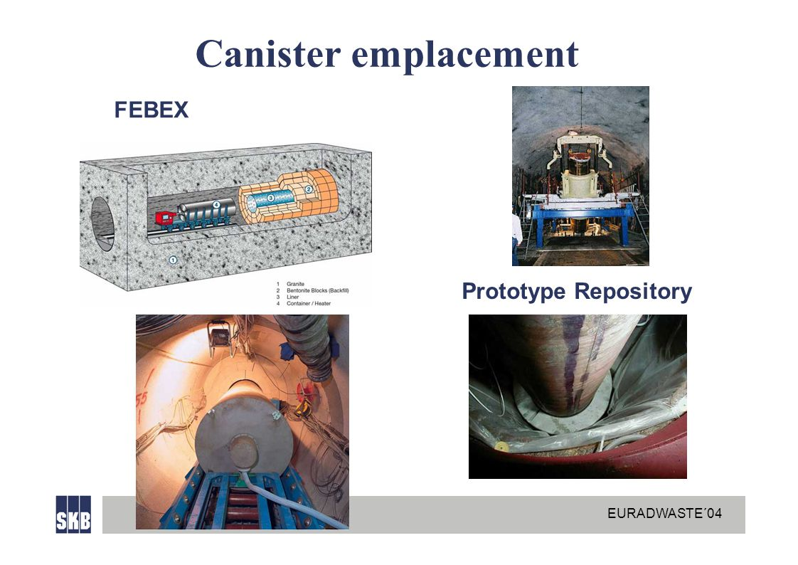 EURADWASTE´04 Canister emplacement FEBEX Prototype Repository