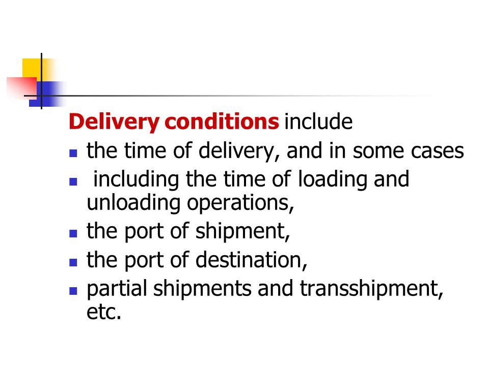 The main terms in the charter party include the interested parties, name of the ship, description and quantity of the shipments, time of chartering, freight, loading and unloading expenses, time limit of loading and unloading, demurrage and dispatch money.