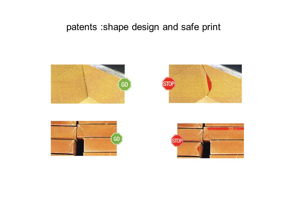 patents :shape design and safe print