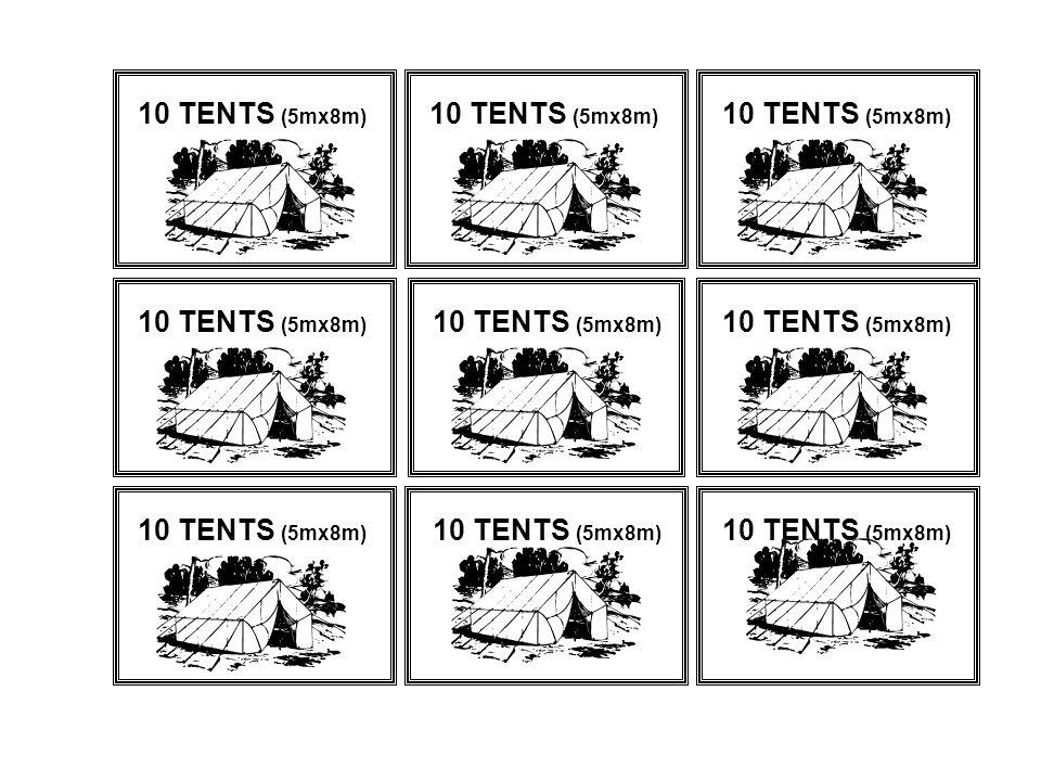 10 TENTS (5mx8m)