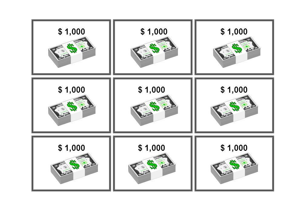 $ 1,000