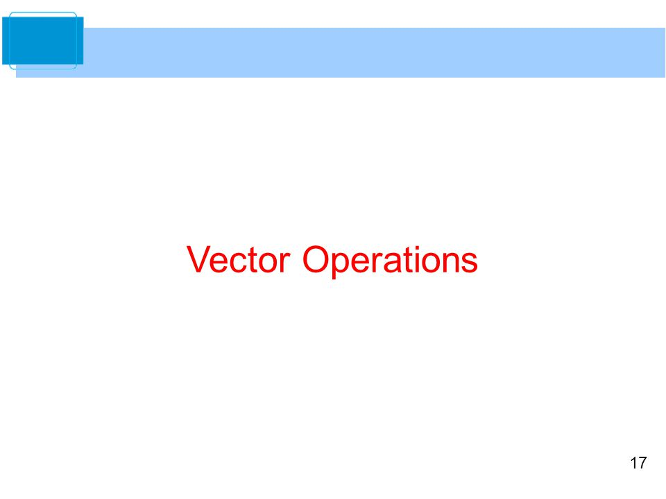 17 Vector Operations