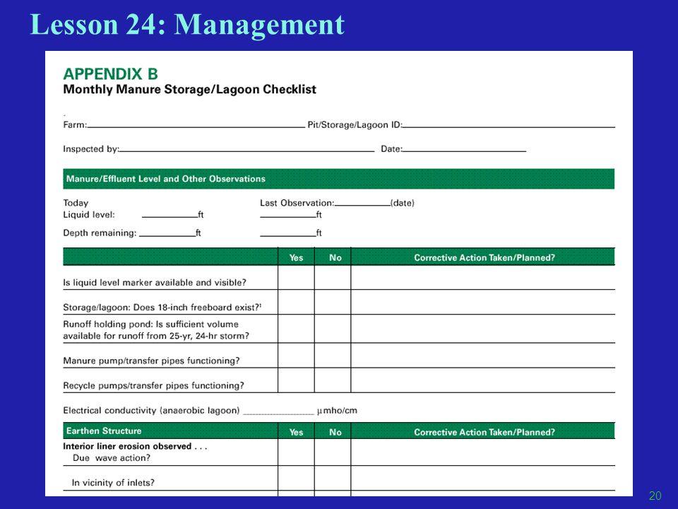 Lesson 24: Management 20