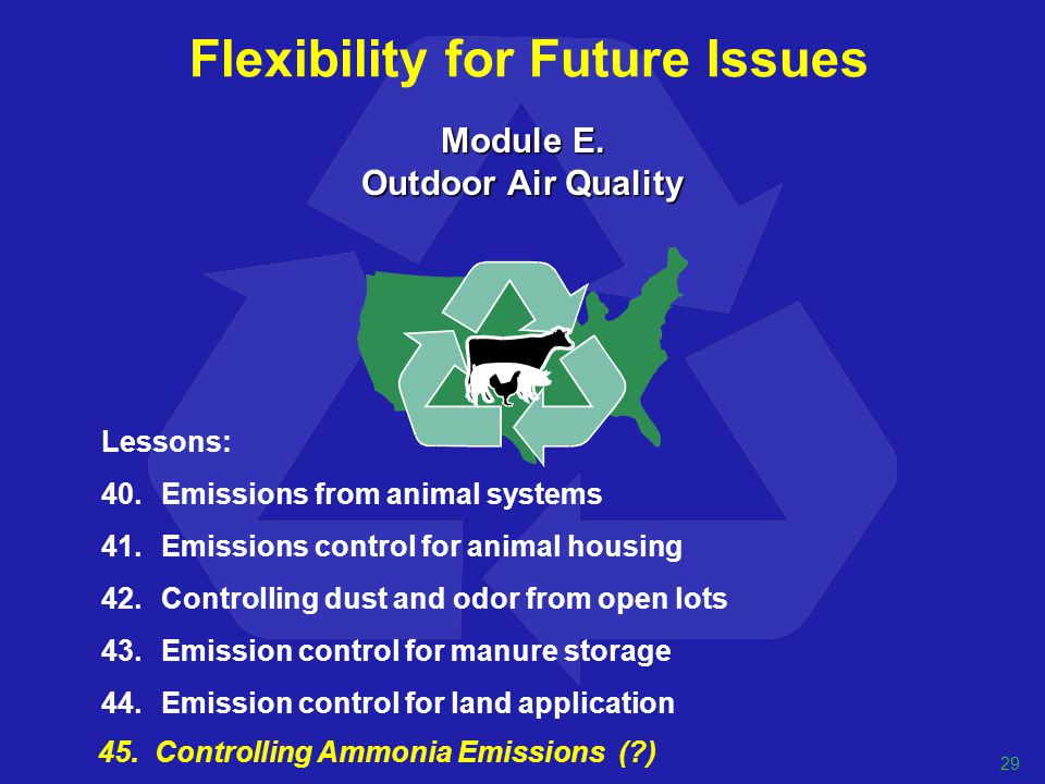 Flexibility for Future Issues Module E.