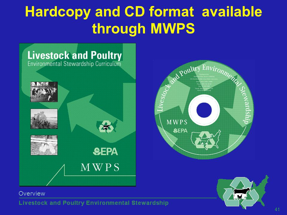 41 Overview Hardcopy and CD format available through MWPS