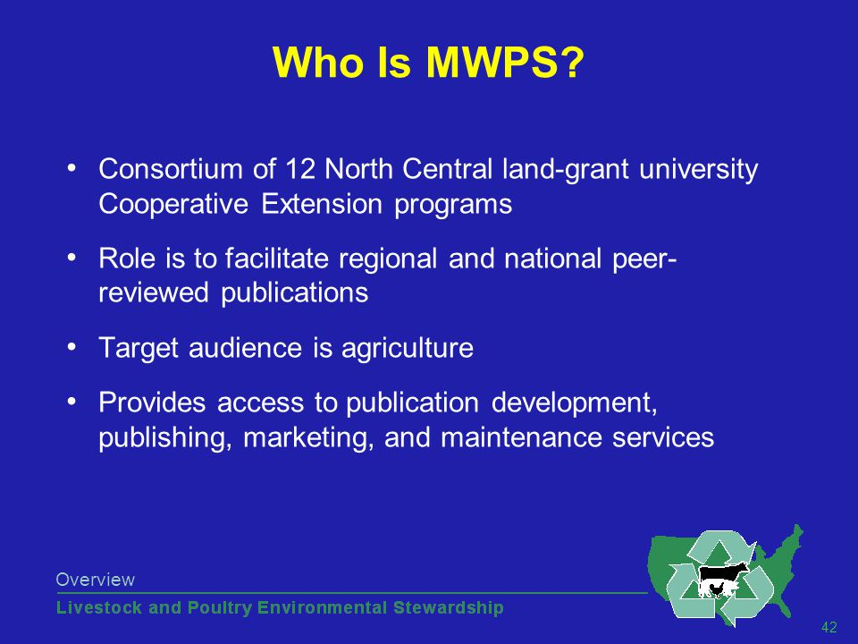42 Overview Who Is MWPS.
