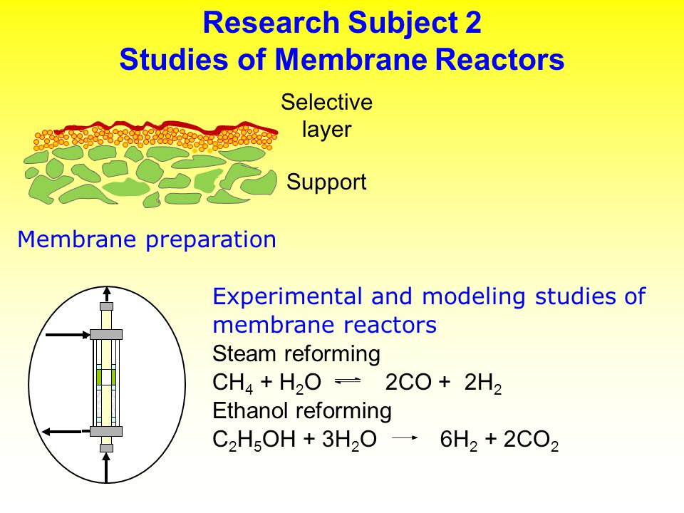 Applications and New Concepts Reforming of Natural Gas Water-gas shift (HTS - 350 o C, LTS – 200 o C) CO + H 2 O CO 2 + H 2 Product purification with pressure swing adsorption or cryogenic distillation Steam reforming of methane (750-850 o C) CH 4 + H 2 O CO + 3 H 2 Feed cleanup Steam reforming Shift HTS LTS H2OH2O CH 4 Product H 2 purification CO 2 removal Condensate P.
