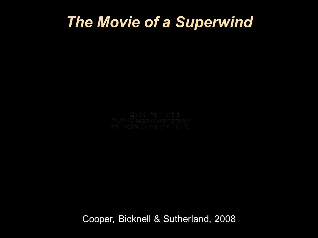 Research School of Astronomy & Astrophysics Fluorescent Processes The Movie of a Superwind Cooper, Bicknell & Sutherland, 2008