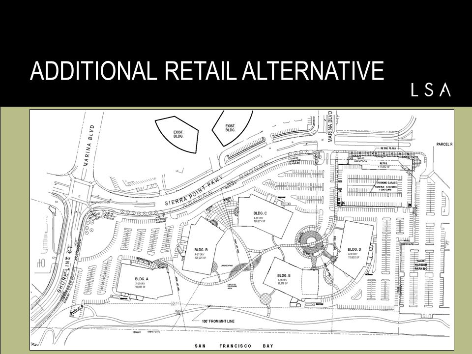 PROJECT ALTERNATIVES Additional Retail Alternative –540,185 sq.