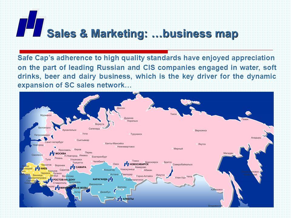 Sales & Marketing: 10 TOP Customers Our Customers is Our Pride … Efes, Bobimex (brand Bobilevo , Senezhskaya ), Raduga, Borodino, Tomsk Beer, Shishkin Les, MegaPack, Heineken, Fonte Aqua, Best Bottling, AquaDar, Buket Chuvashii, Klinskie Napitki (brand Kristalin ), Visma (brand Archyz ), Tonus, Bravo Premium, Zhigulevskoe Beer, Niagara, PK Lider /Moscow/, IDS (brand Borzhomi ), Klinskie Napitki (brand Kristalin )