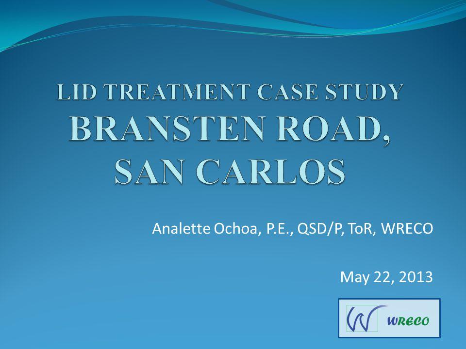 Analette Ochoa, P.E., QSD/P, ToR, WRECO May 22, 2013