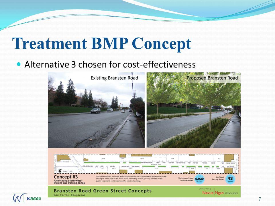 Treatment BMP Concept 7 Alternative 3 chosen for cost-effectiveness