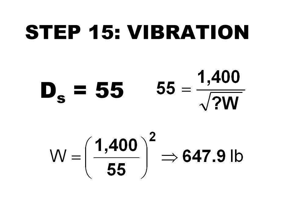 STEP 15: VIBRATION D s = 55