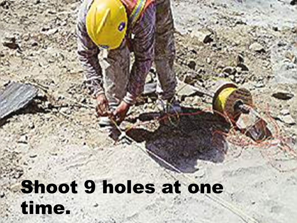Shoot 9 holes at one time.